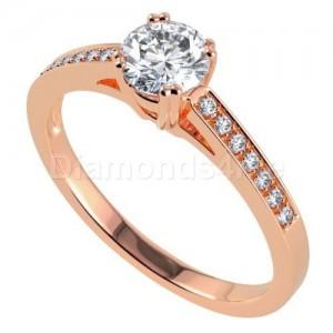 """טבעת אירוסין """"אלנטיסה"""" בזהב אדום"""