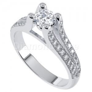 """טבעת אירוסין דגם """"ליקי"""" בזהב לבן"""