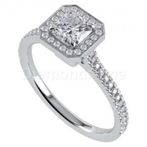 """טבעת אירוסין דגם """"רדילין"""" בזהב לבן"""