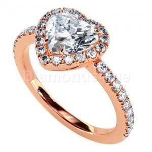 """טבעת אירוסין """"לברין"""" בזהב אדום"""