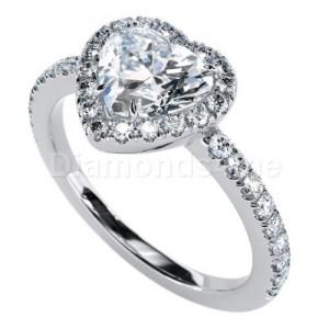 """טבעת אירוסין """"לברין"""" בזהב לבן"""