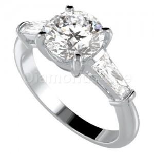 """טבעת דגם  """"מדיסן"""" בזהב לבן"""