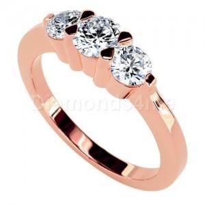 טבעת אירוסין מריאלה בזהב אדום