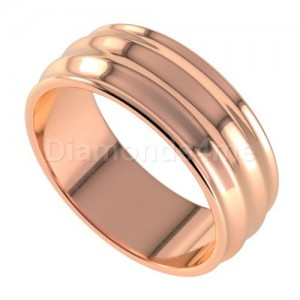 טבעת נישואים גלית בזהב אדום