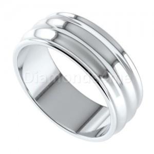 טבעת נישואים גלית בזהב לבן