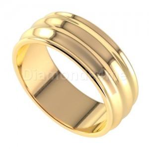טבעת נישואים גלית בזהב צהוב