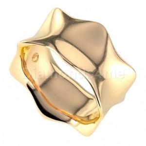 טבעת נישואים מגנה בזהב צהוב