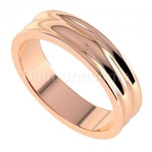 טבעת נישואים פרינה בזהב אדום