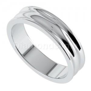 טבעת נישואים פרינה בזהב לבן