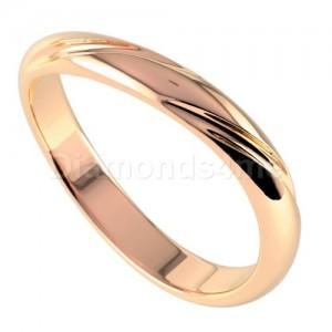 טבעת נישואים שוקונה בזהב אדום