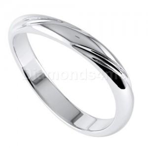 טבעת נישואים שוקונה בזהב לבן