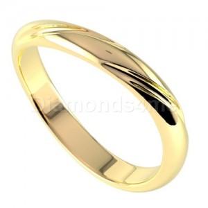 טבעת נישואים שוקונה בזהב צהוב