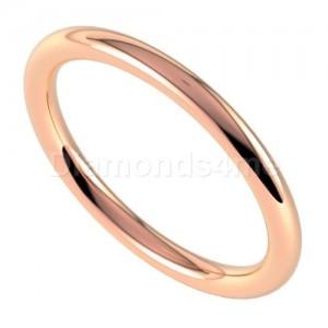 טבעת נישואים סימפל בזהב אדום