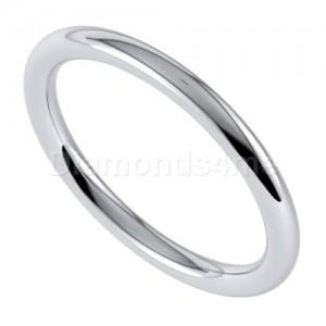 טבעת נישואים סימפל בזהב לבן
