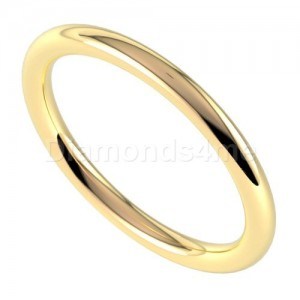 טבעת נישואים סימפל בזהב צהוב