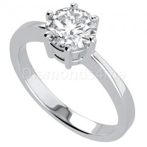 טבעת אירוסין קמילה בזהב לבן
