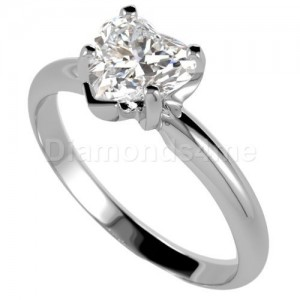 טבעת  אירוסין לבידה בזהב לבן