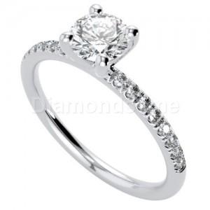 טבעת אירוסין מרטיני זהב לבן