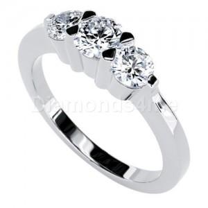 טבעת אירוסין מריאלה בזהב לבן